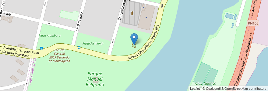 Mapa de ubicacion de Anfiteatro Parque del Sur en Argentina, Santa Fe, Departamento La Capital, Santa Fe Capital.