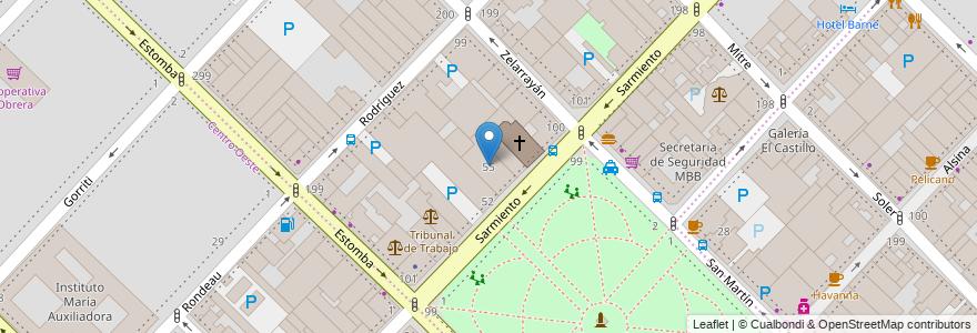 Mapa de ubicacion de Antiguo Edificio Diario La Nueva Provincia en Argentina, Buenos Aires, Partido De Bahía Blanca, Bahía Blanca.
