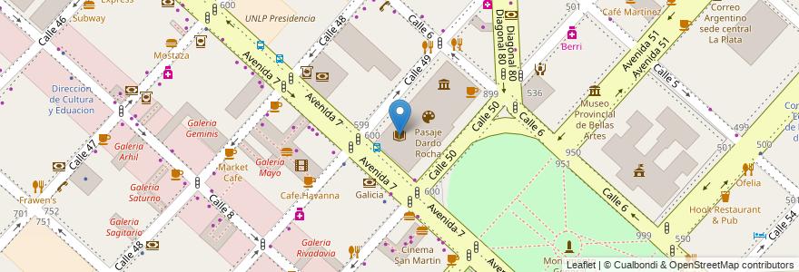 """Mapa de ubicacion de Archivo Histórico de la Provincia de Buenos Aires """"Dr. Ricardo Levene"""", Casco Urbano en La Plata, Partido De La Plata, Buenos Aires, Argentina."""