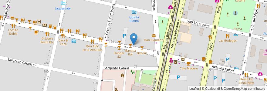Mapa de ubicacion de Arístides Neurología en Argentina, Mendoza, Departamento Capital, Ciudad De Mendoza, Sección 5ª Residencial Sur.