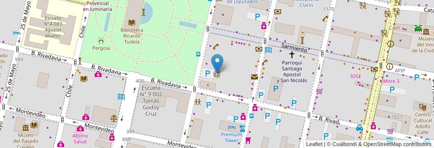 Mapa de ubicacion de Arroba Internet en Sección 2ª Barrio Cívico, Ciudad De Mendoza, Departamento Capital, Mendoza, Argentina.