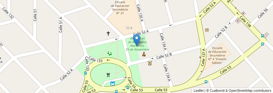 Mapa de ubicacion de Asociación de Residentes Marítimos 25 de Noviembre en Argentina, Buenos Aires, Partido De Berazategui, Hudson.