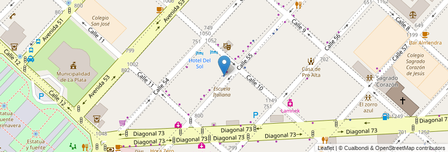 Mapa de ubicacion de Asociación del Personal de los Organismos de Control, Casco Urbano en Argentina, Buenos Aires, Partido De La Plata, La Plata.