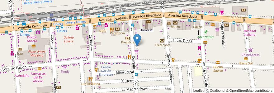 Mapa de ubicacion de Asociación Escuela Científica Basilio, Liniers en Argentina, Ciudad Autónoma De Buenos Aires, Buenos Aires, Comuna 9.