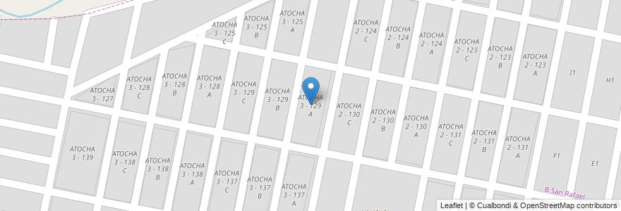 Mapa de ubicacion de ATOCHA 3 - 129 A en Argentina, Salta, Capital, Salta, Municipio De San Lorenzo.
