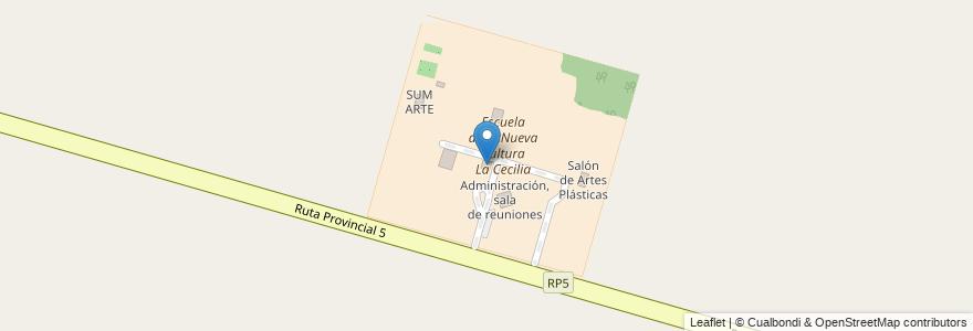 Mapa de ubicacion de Aulas 1 y 2 en Municipio De Monte Vera, Departamento La Capital, Santa Fe, Argentina.