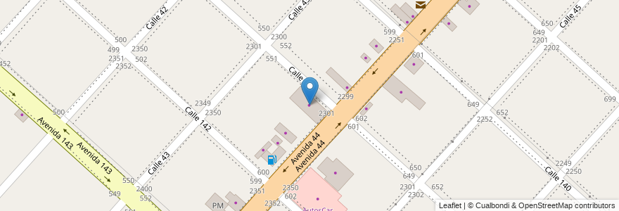 Mapa de ubicacion de Autos Ciara, San Carlos en Argentina, Buenos Aires, Partido De La Plata, San Carlos.