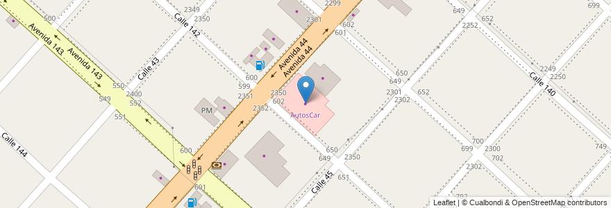 Mapa de ubicacion de AutosCar, San Carlos en Argentina, Buenos Aires, Partido De La Plata, San Carlos.