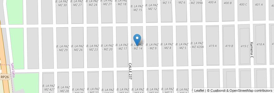Mapa de ubicacion de B. LA PAZ - MZ 14 en Municipio De Salta, Capital, Salta, Argentina.
