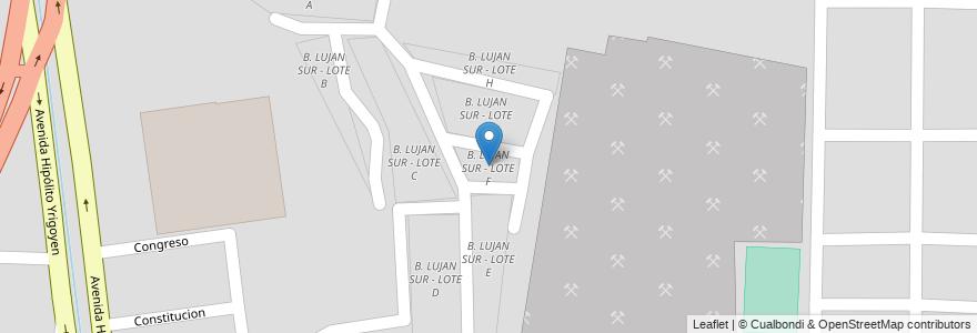 Mapa de ubicacion de B. LUJAN SUR - LOTE F en Municipio De Salta, Salta, Capital, Salta, Argentina.