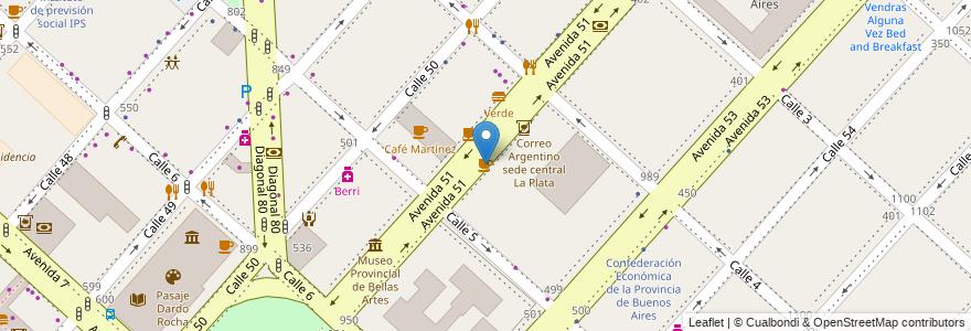 Mapa de ubicacion de Bachicha, Casco Urbano en Argentina, Buenos Aires, Partido De La Plata, La Plata.