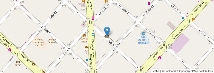 Mapa de ubicacion de Banco de la Provincia de Buenos Aires, Casco Urbano en Argentina, Buenos Aires, Partido De La Plata, La Plata.