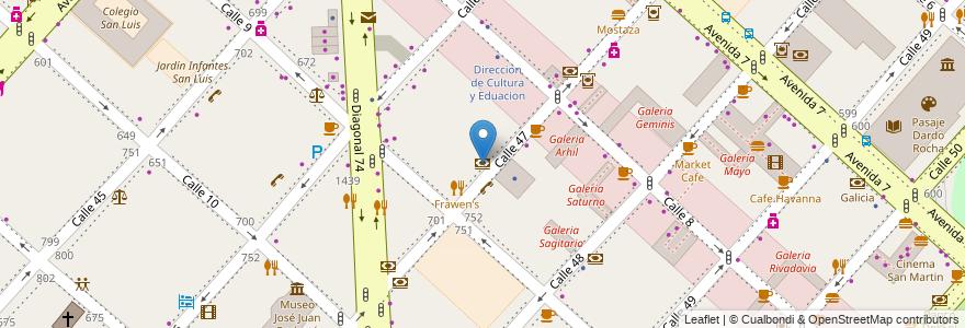 Mapa de ubicacion de Banco Industrial, Casco Urbano en La Plata, Partido De La Plata, Buenos Aires, Argentina.