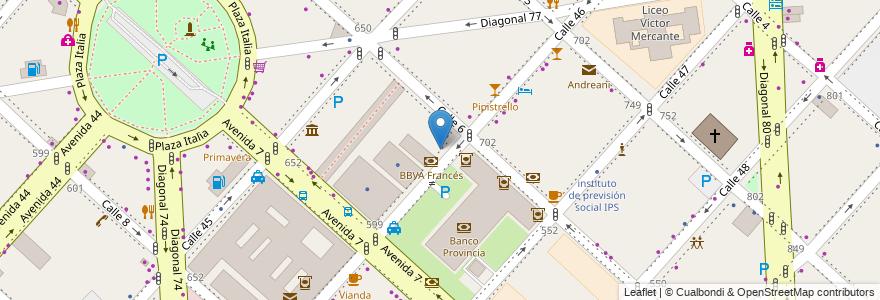 Mapa de ubicacion de Banco Itau, Casco Urbano en La Plata, Partido De La Plata, Buenos Aires, Argentina.