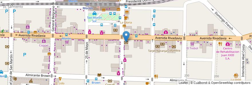 Mapa de ubicacion de Banco Nación en Argentina, Buenos Aires, Partido De Morón, Morón.