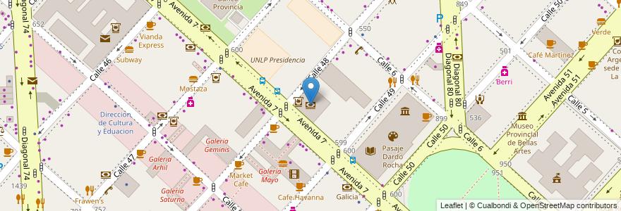 Mapa de ubicacion de Banco Nación, Casco Urbano en La Plata, Partido De La Plata, Buenos Aires, Argentina.