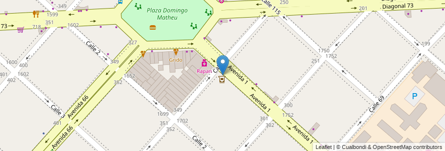 Mapa de ubicacion de Banco Provincia, Casco Urbano en La Plata, Partido De La Plata, Buenos Aires, Argentina.