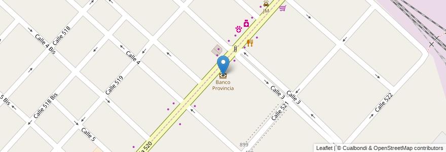 Mapa de ubicacion de Banco Provincia, Tolosa en Tolosa, Partido De La Plata, Buenos Aires, Argentina.