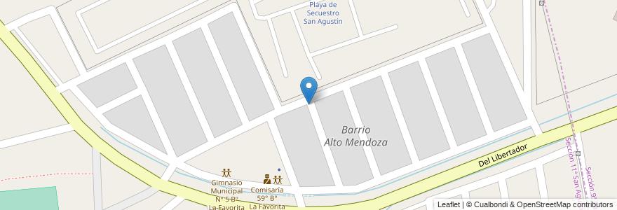 Mapa de ubicacion de Barrio Alto Mendoza en Argentina, Chile, Mendoza, Departamento Capital, Ciudad De Mendoza.