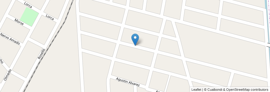 Mapa de ubicacion de Barrio J. D. Peron en Argentina, Mendoza, Departamento Maipú, Distrito Ciudad De Maipú, Maipú.