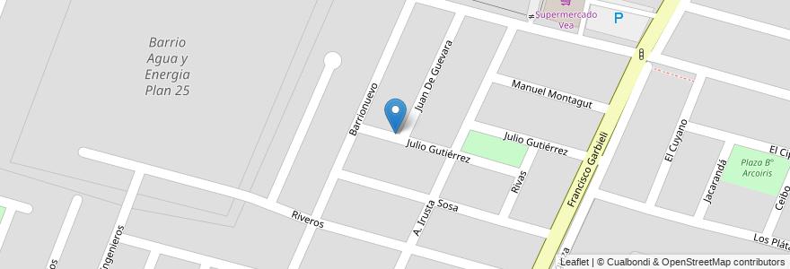 Mapa de ubicacion de Barrio Personal Municipal en Argentina, Mendoza, Departamento Maipú, Distrito Luzuriaga, Maipú.