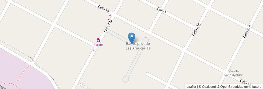Mapa de ubicacion de Barrio Privado Las Araucarias, City Bell en Argentina, Buenos Aires, Partido De La Plata, City Bell.