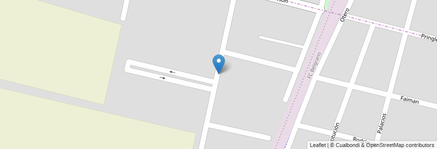 Mapa de ubicacion de Barrio Valle Azul en Argentina, Chile, Mendoza, Departamento Maipú, Distrito Gutiérrez, Maipú.