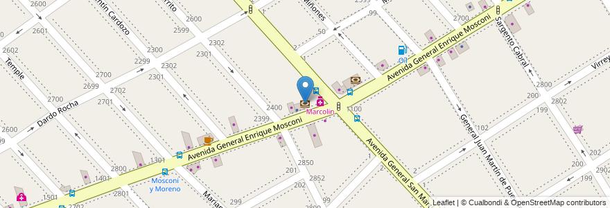 Mapa de ubicacion de BBVA Francés en Argentina, Buenos Aires, Partido De La Matanza, Lomas Del Mirador.