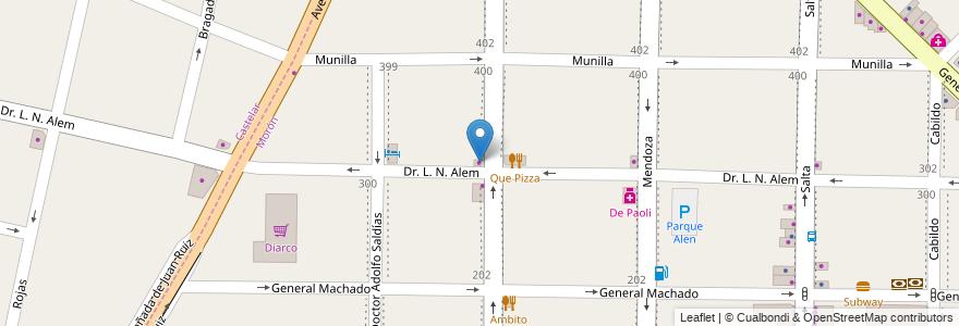 Mapa de ubicacion de Bellone en Argentina, Buenos Aires, Partido De Morón.
