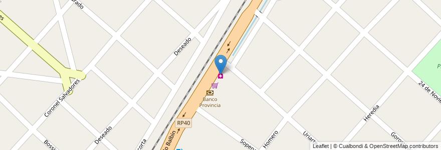 Mapa de ubicacion de Benitez en Argentina, Buenos Aires, Partido De Merlo, Mariano Acosta.