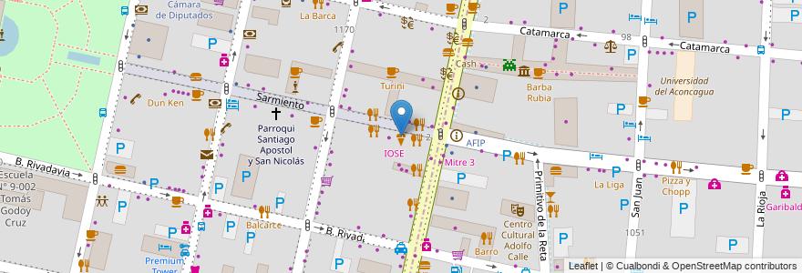 Mapa de ubicacion de Bianco & Nero en Ciudad De Mendoza, Departamento Capital, Mendoza, Argentina.