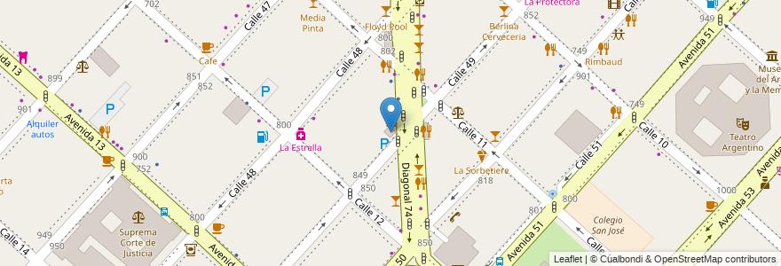 Mapa de ubicacion de Biblioteca Almafuerte (juvenil), Casco Urbano en La Plata, Partido De La Plata, Buenos Aires, Argentina.