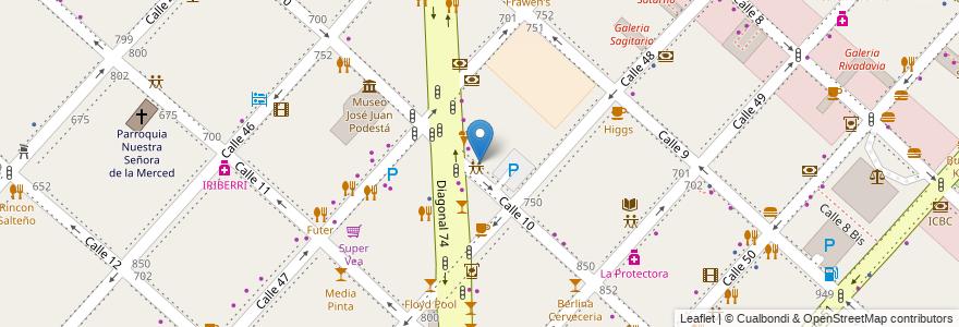 Mapa de ubicacion de Biblioteca Florentino Ameghino, Casco Urbano en Argentina, Buenos Aires, Partido De La Plata, La Plata.