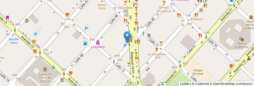 Mapa de ubicacion de Biblioteca María Elena Altube (infantil)., Casco Urbano en Argentina, Buenos Aires, Partido De La Plata, La Plata.