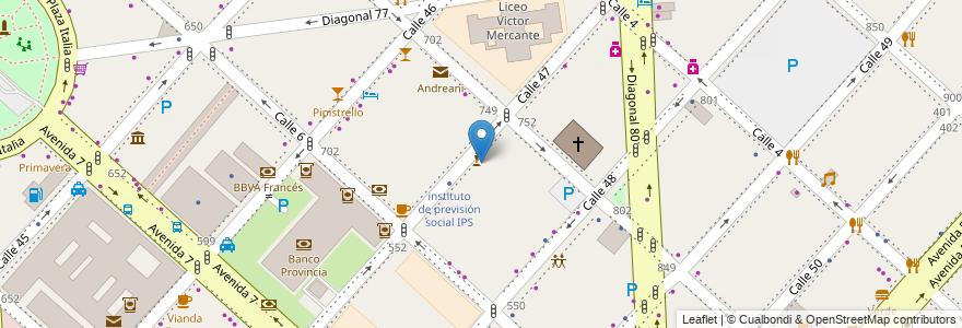 Mapa de ubicacion de Biblioteca Pública Central Ernesto Sabato, Casco Urbano en La Plata, Partido De La Plata, Buenos Aires, Argentina.