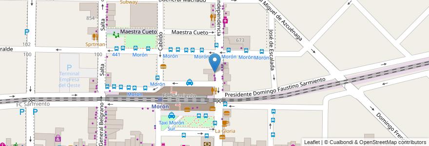 Mapa de ubicacion de Bigmuzza en Argentina, Buenos Aires, Partido De Morón, Morón.