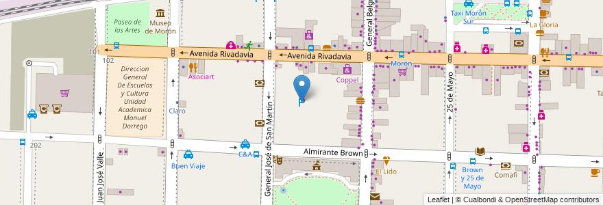 Mapa de ubicacion de BINGO MORON en Argentina, Buenos Aires, Partido De Morón, Morón.