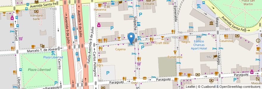 Mapa de ubicacion de Bisonte Palace Hotel, Retiro en Buenos Aires, Ciudad Autónoma De Buenos Aires, Argentina.
