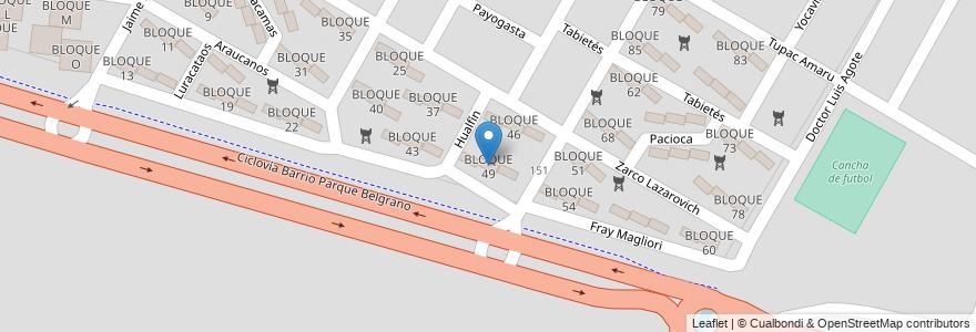 Mapa de ubicacion de BLOQUE 49 en Argentina, Salta, Capital, Salta, Municipio De Salta.
