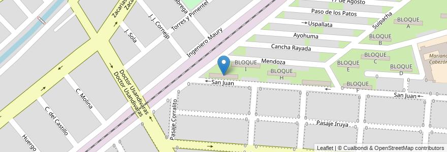 Mapa de ubicacion de BLOQUE J en Argentina, Salta, Capital, Salta, Municipio De Salta.