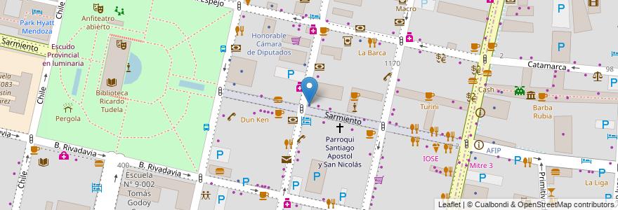 Mapa de ubicacion de Bolsa de Valores en Argentina, Mendoza, Departamento Capital, Ciudad De Mendoza.