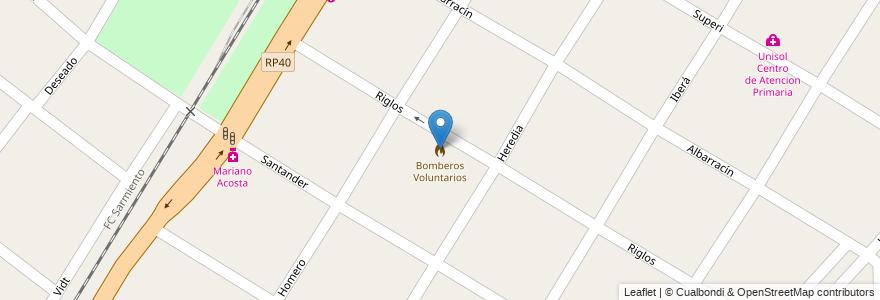 Mapa de ubicacion de Bomberos Voluntarios en Argentina, Buenos Aires, Partido De Merlo, Mariano Acosta.