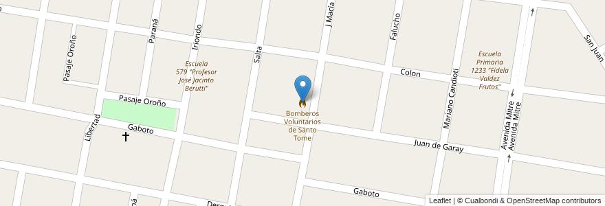 Mapa de ubicacion de Bomberos Voluntarios de Santo Tome en Argentina, Santa Fe, Departamento La Capital, Santo Tomé.