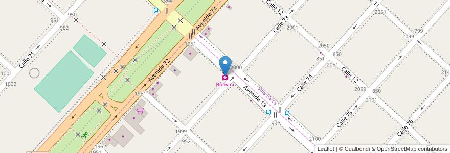 Mapa de ubicacion de Bonvini, Altos de San Lorenzo en Argentina, Buenos Aires, Partido De La Plata.