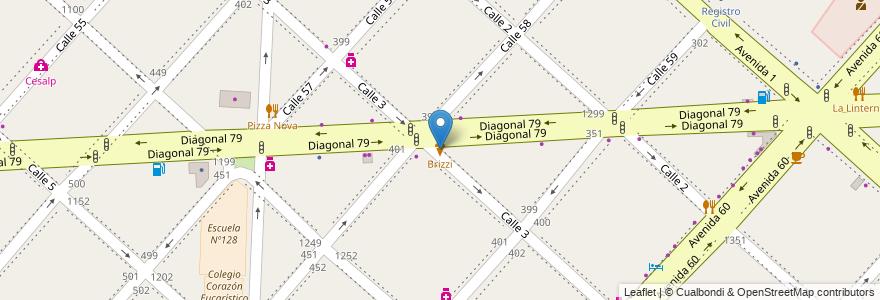 Mapa de ubicacion de Brizzi, Casco Urbano en La Plata, Partido De La Plata, Buenos Aires, Argentina.