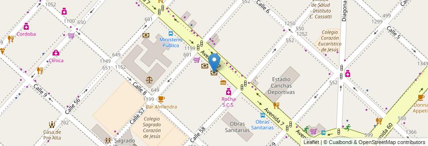 Mapa de ubicacion de BST Banco, Casco Urbano en La Plata, Partido De La Plata, Buenos Aires, Argentina.