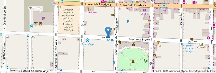 Mapa de ubicacion de C&A en Argentina, Buenos Aires, Partido De Morón, Morón.