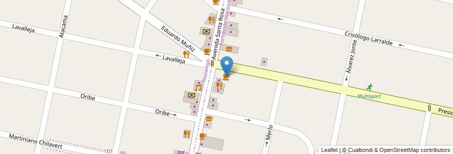 Mapa de ubicacion de Café Martínez en Argentina, Buenos Aires, Partido De Morón, Castelar.