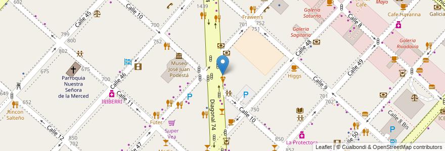Mapa de ubicacion de Café Martínez, Casco Urbano en La Plata, Partido De La Plata, Buenos Aires, Argentina.
