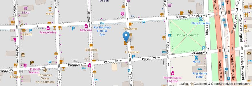 Mapa de ubicacion de Café Martínez, Retiro en Buenos Aires, Ciudad Autónoma De Buenos Aires, Argentina.